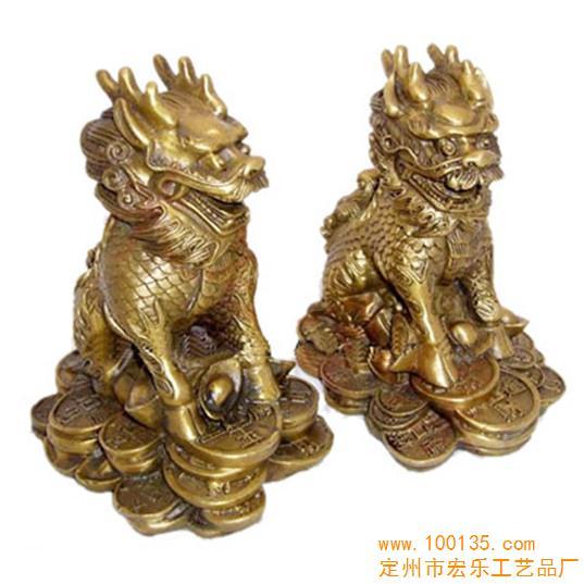 铜雕工艺品 供应铜雕麒麟 铜雕价格(图)