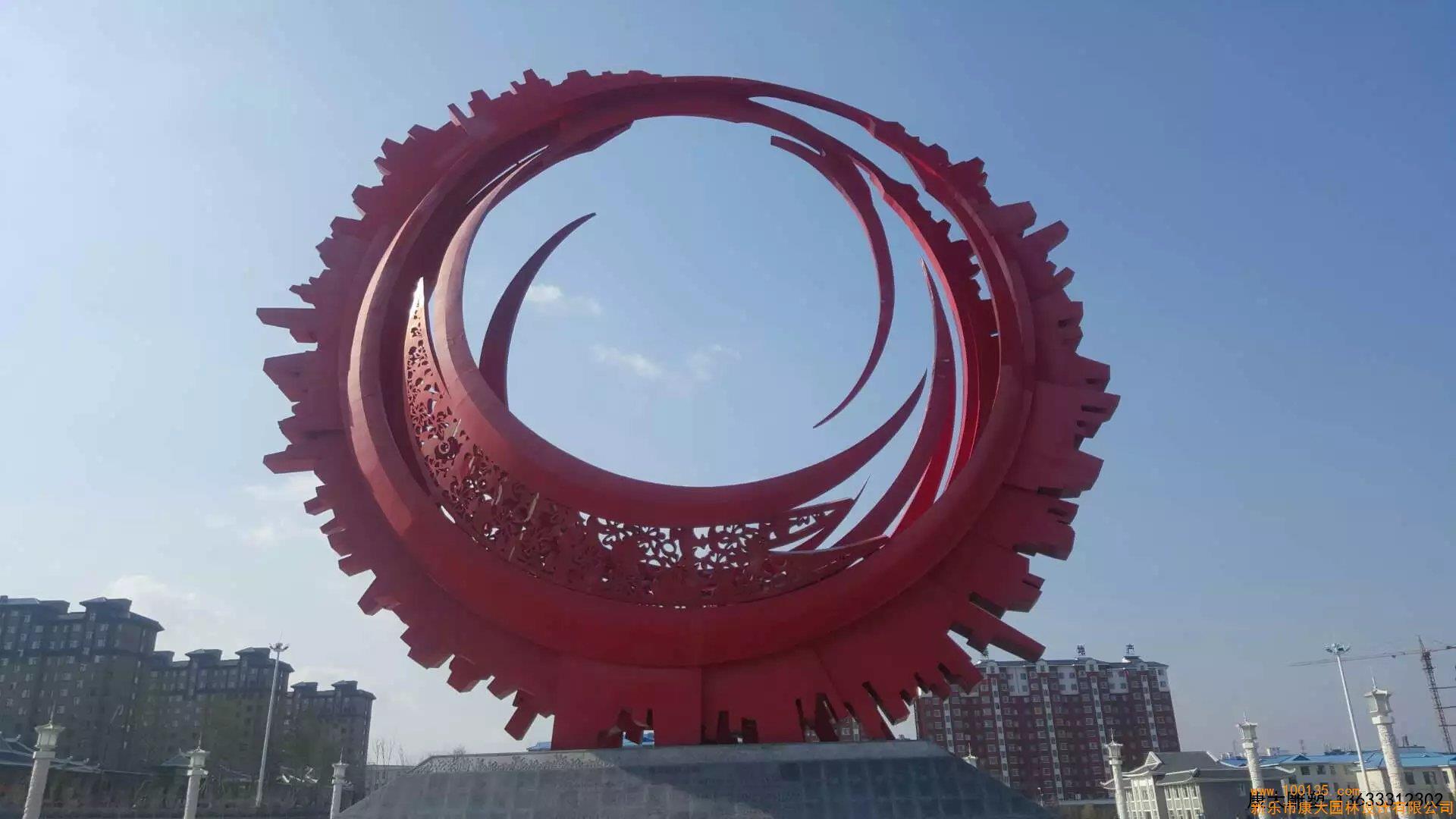 半圆环月亮不锈钢雕塑广场不锈钢雕塑(图)